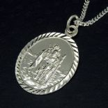 Personalised St Christopher pendants